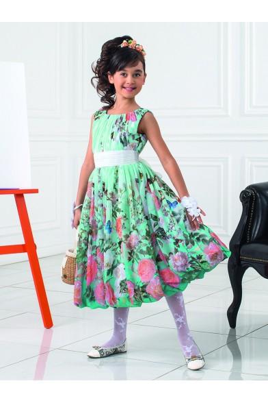 Стильное платье из шифона PSA011501 Perlitta