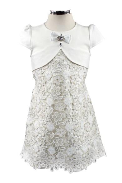 Платье, декорированное кружевом 16939 Deloras 16939