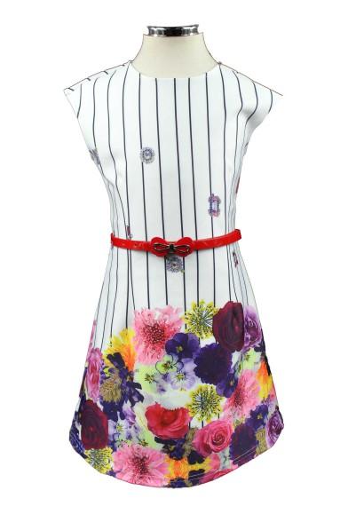 Платье с контрастным ремнем 28701F Deloras 28701F