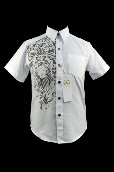 Нарядная рубашка с коротким рукавом 51854S Deloras 51854S