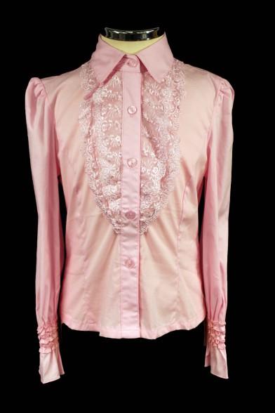 Блузка с кружевным жабо 2225 Deloras