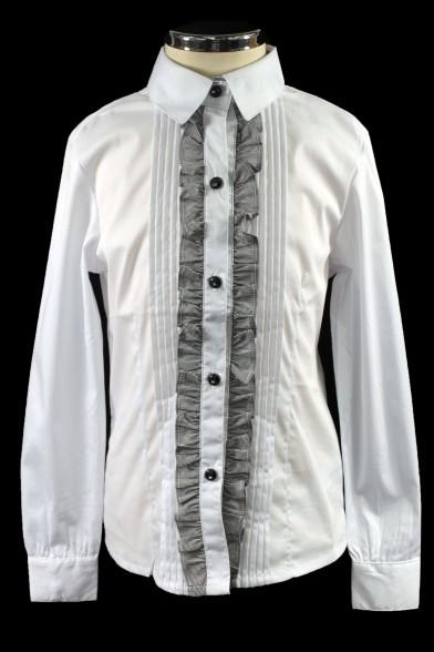 Блузка, декорированная жабо 26431 Deloras