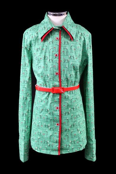 Модная яркая блузка 1980