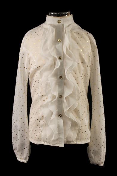 Очаровательная блузка с жабо 27142