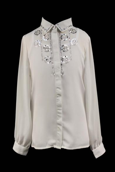 Нарядная блузка + топ 27711 Deloras