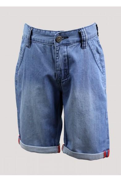 Джинсовые шорты с отворотами Deloras 51658