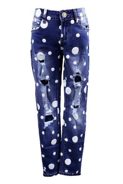 Ультрамодные джинсы в горошек Deloras 28897