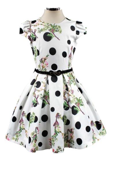 Платье в горох Deloras 28658