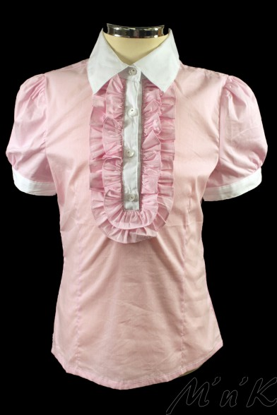 Блузка с рукавами-фонариками 26434S Deloras 26434S