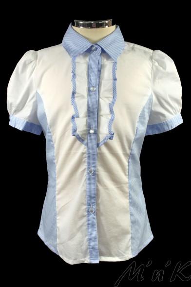 Комбинированная блузка 26460S Deloras