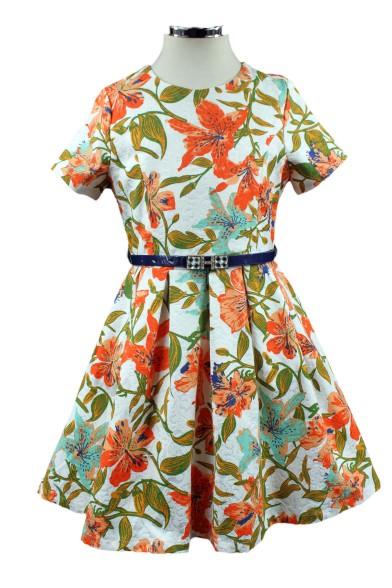 """Платье """"Оранжевые лилии"""" Deloras 28803"""