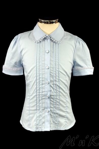 Блузка, декорированная нежным кружевом 10001 Vitacci