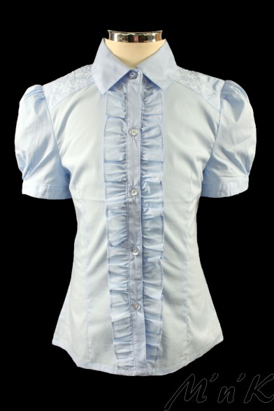 Блузка, украшенная вышивкой 26452S Deloras