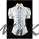 Блузка, украшенная вышивкой