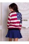 Свитшот Микки Маус на флаге США - 3