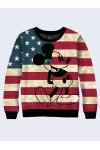 Свитшот Микки Маус на флаге США - 1