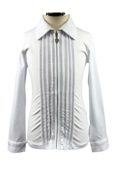 Трикотажная блузка на молнии Colabear 682711