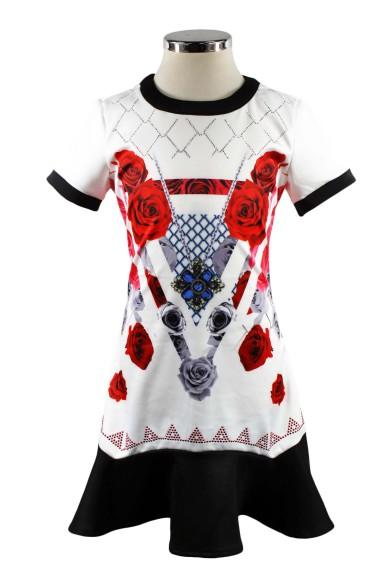 Платье с орнаментом Deloras 29224