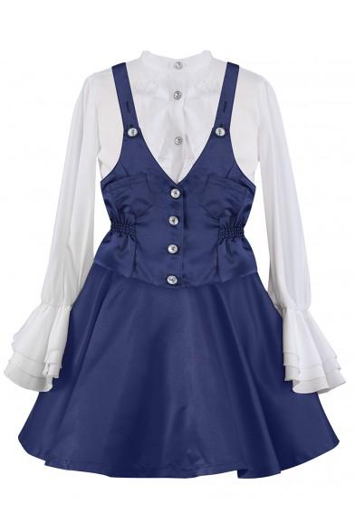 Комплект (блузка+юбка+жилет) Perlitta