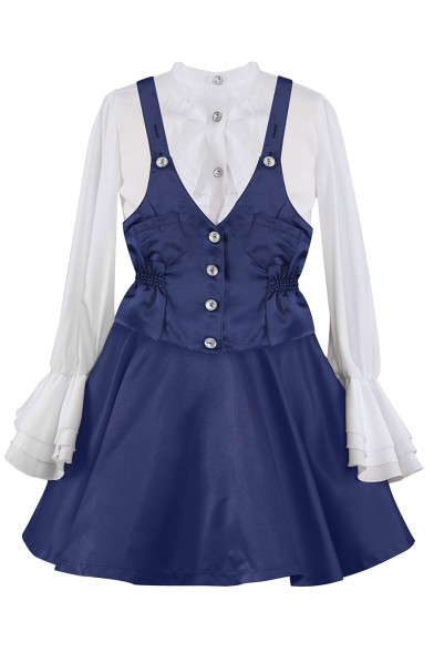 Комплект (блузка+юбка+жилет) Perlitta PRGt061612