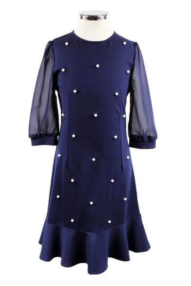 Платье с шифоновыми рукавами Deloras 29231