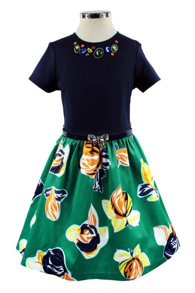 Платье с цветной юбкой - 1 Deloras 29199
