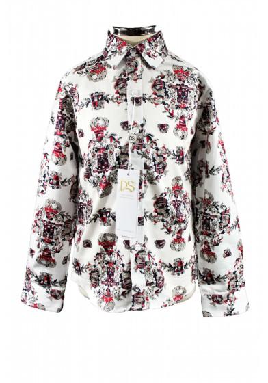 Рубашка с оригинальным принтом Deloras 32108Y