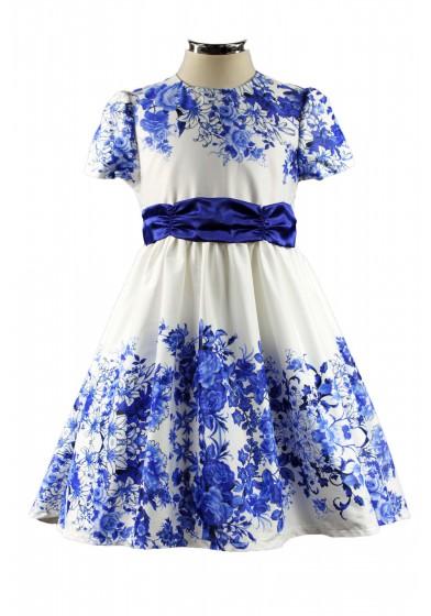 Нарядный комплект (платье со шлейфом+жакет) Deloras 17372