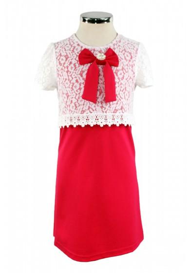 Платье, декорированное кружевом Deloras 17364